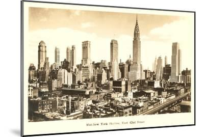 Midtown Skyline, New York City--Mounted Art Print