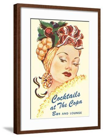 Cocktails at the Copa, Latin Bombshell, Graphics--Framed Art Print