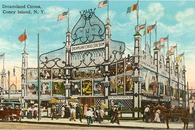 Dreamland Circus, Coney Island, New York City--Stretched Canvas Print