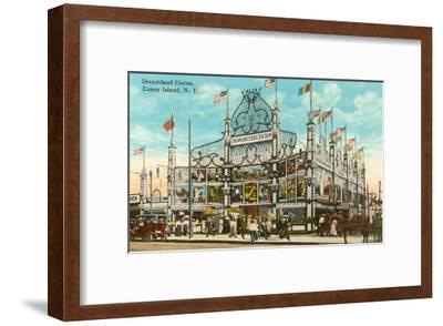 Dreamland Circus, Coney Island, New York City--Framed Art Print