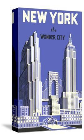 New York, the Wonder City--Stretched Canvas Print