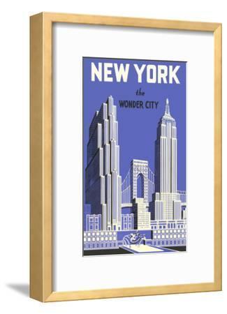 New York, the Wonder City--Framed Premium Giclee Print