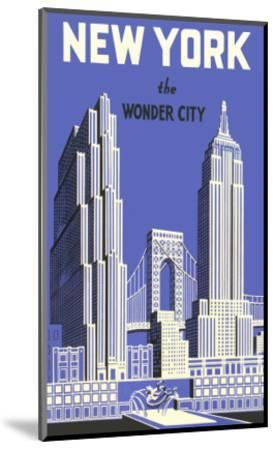 New York, the Wonder City--Mounted Premium Giclee Print