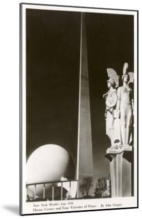 New York World's Fair Statuary, 1939--Mounted Art Print