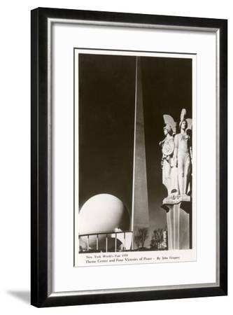 New York World's Fair Statuary, 1939--Framed Art Print