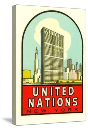 United Nations, New York--Stretched Canvas Print