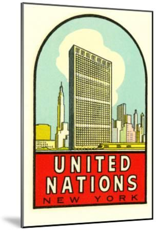 United Nations, New York--Mounted Art Print