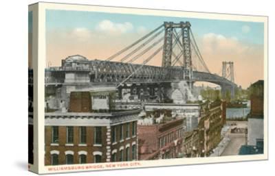 Williamsburg Bridge, New York City--Stretched Canvas Print