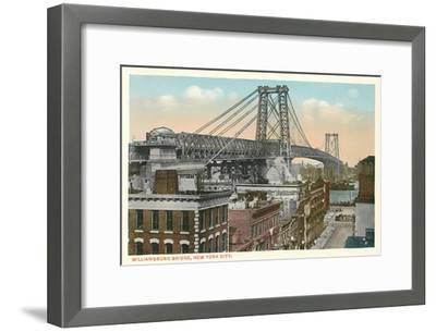 Williamsburg Bridge, New York City--Framed Art Print