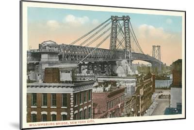 Williamsburg Bridge, New York City--Mounted Art Print