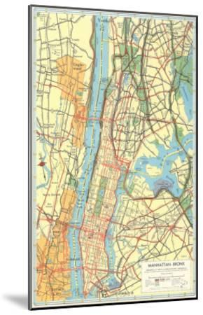 Map Of New York Bronx.Map Of Manhattan And Bronx New York Art Print By Art Com