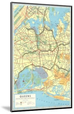 Map of Queens, New York--Mounted Premium Giclee Print