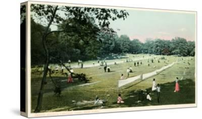 Lawn Tennis in Central Park, New York City--Stretched Canvas Print