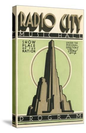 Radio City Music Hall Program, New York City--Stretched Canvas Print