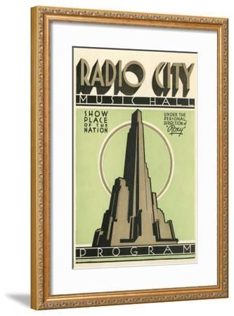 Radio City Music Hall Program, New York City--Framed Art Print