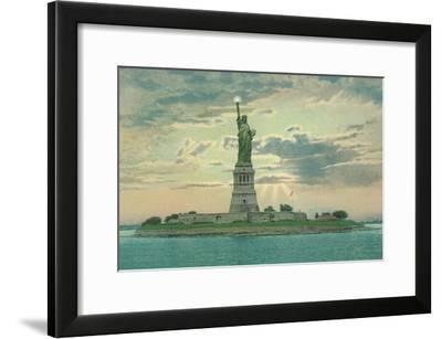 Statue of Liberty, New York City--Framed Art Print