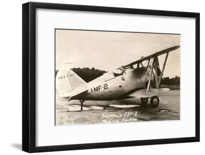 Grumman F3F-2 Marine Fighter Plane--Framed Art Print