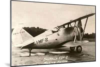 Grumman F3F-2 Marine Fighter Plane--Mounted Art Print