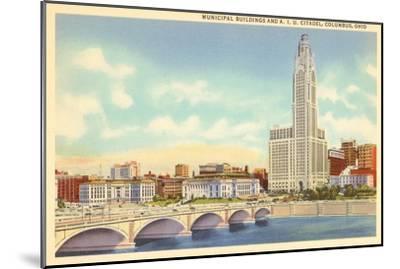 Municipal Buildings, Columbus, Ohio--Mounted Art Print