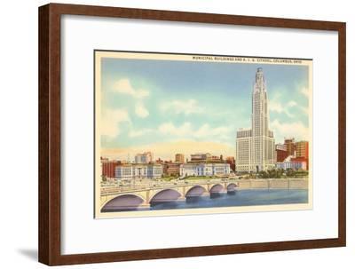 Municipal Buildings, Columbus, Ohio--Framed Art Print