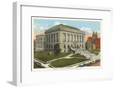 Courthouse, Akron, Ohio--Framed Art Print