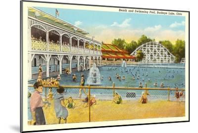 Beach and Pool, Buckeye Lake, Ohio--Mounted Art Print