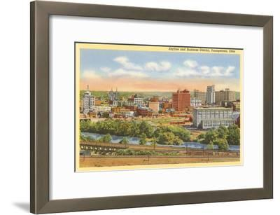 Business District, Youngstown, Ohio--Framed Art Print