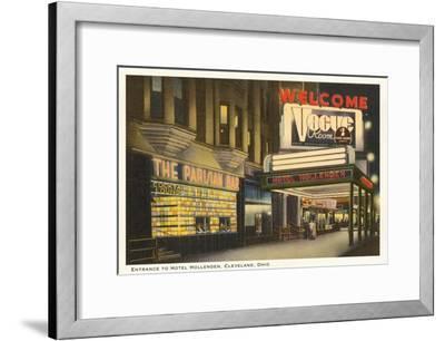 Night, Hotel Hollenden, Cleveland, Ohio--Framed Art Print