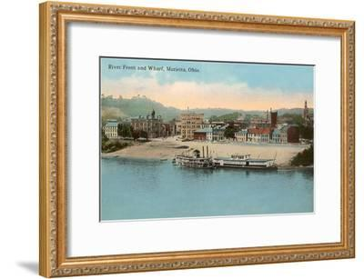 Riverfront, Marietta, Ohio--Framed Art Print