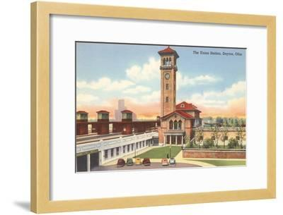 Union Station, Dayton, Ohio--Framed Art Print