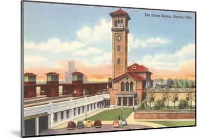 Union Station, Dayton, Ohio--Mounted Art Print