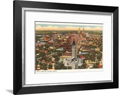Skyline of Tulsa, Oklahoma--Framed Art Print