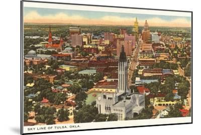 Skyline of Tulsa, Oklahoma--Mounted Art Print