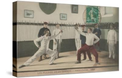 The Thrill of the Chase, Fencing--Stretched Canvas Print