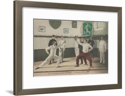 The Thrill of the Chase, Fencing--Framed Art Print