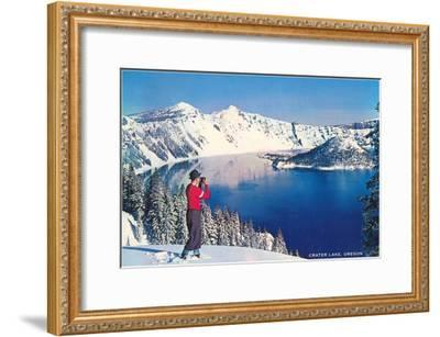 Crater Lake in Winter, Oregon--Framed Art Print