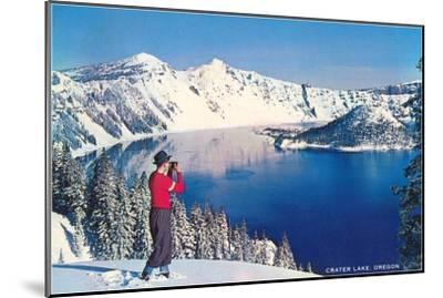 Crater Lake in Winter, Oregon--Mounted Art Print