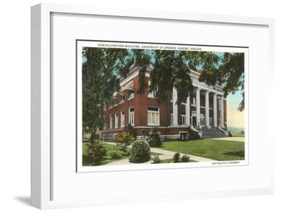 Administration Building, University of Oregon, Eugene--Framed Art Print