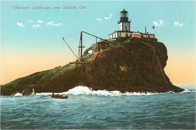 Tillamook Lighthouse, Seaside, Oregon--Stretched Canvas Print