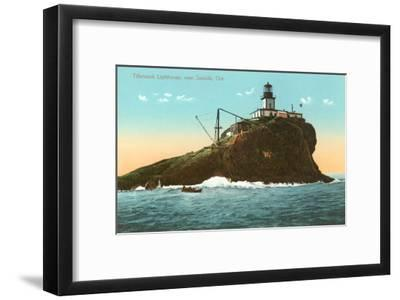 Tillamook Lighthouse, Seaside, Oregon--Framed Art Print