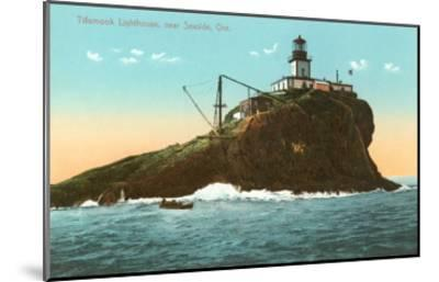 Tillamook Lighthouse, Seaside, Oregon--Mounted Art Print