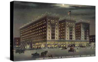 Multnomah Hotel at Night, Portland, Oregon--Stretched Canvas Print