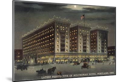 Multnomah Hotel at Night, Portland, Oregon--Mounted Art Print