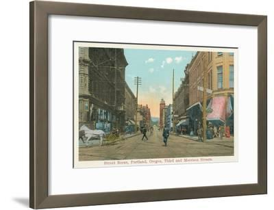 Early Downtown Portland, Oregon--Framed Art Print