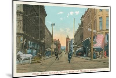 Early Downtown Portland, Oregon--Mounted Art Print