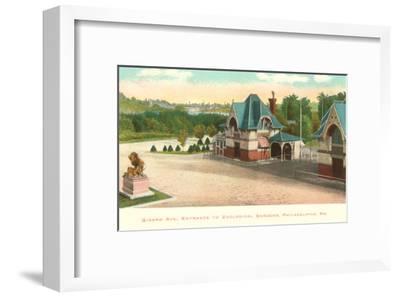 Zoo, Philadelphia, Pennsylvania--Framed Art Print
