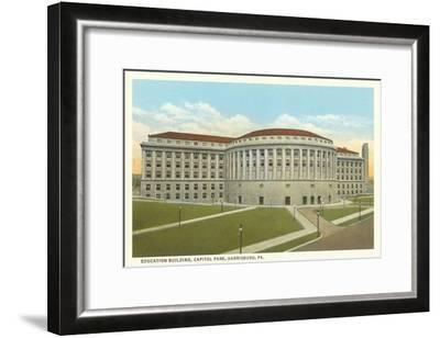 Education Building, Harrisburg, Pennsylvania--Framed Art Print