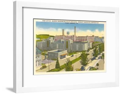 Post Office, Plant, Hershey, Pennsylvania--Framed Art Print