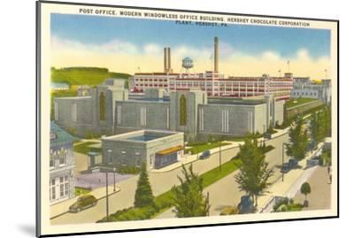 Post Office, Plant, Hershey, Pennsylvania--Mounted Art Print