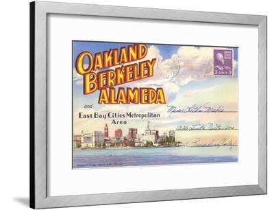 Postcard Folder, Oakland, Berkeley, Alameda, California--Framed Art Print
